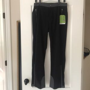 New Men's REI Windbrake Thermal Black Pants Medium
